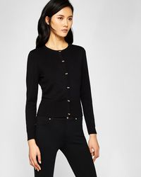 Ted Baker - Bow Button Cardigan - Lyst