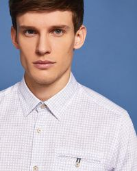 Ted Baker - Faded Checked Shirt - Lyst