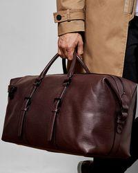 c43c04492 Lyst - Ted Baker Color Block Leather Bowler Bag in Blue for Men