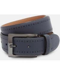 Ted Baker - Rubber Leather Brogue Belt - Lyst
