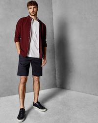 Ted Baker - Cotton Chino Shorts - Lyst