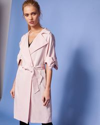 Ted Baker - Bow Detail Trench Coat - Lyst