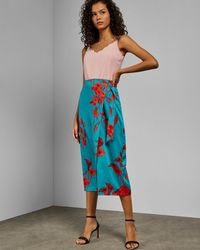 bd54e9f2ce7a4d Ted Baker Imperial Stripe Maxi Skirt in Pink - Lyst