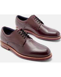 Ted Baker - Burnished Leather Derby Brogues - Lyst