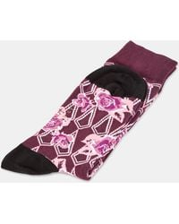 Ted Baker - Floral Print Cotton Socks - Lyst