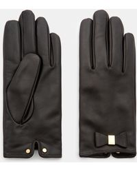 Ted Baker - Bow Detail Leather Gloves - Lyst