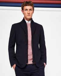 Ted Baker - Jersey Jacket With Inner Funnel Neck - Lyst