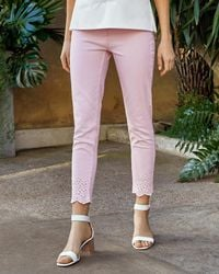 Ted Baker - Embroidered Cotton Jeans - Lyst
