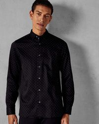 Ted Baker - Spotted Cotton Shirt - Lyst