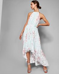 Ted Baker - Soft Blossom Pleated Maxi Dress - Lyst