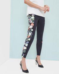 1dfa045b8 Lyst - Ted Baker Baynar Kensington Floral Print Ankle Pants in Black