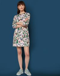 Ted Baker - Printed Shift Dress - Lyst