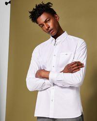 Ted Baker - Semi Plain Cotton Shirt - Lyst