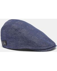 Ted Baker - Cotton And Linen Flat Cap - Lyst