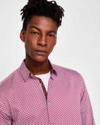 Ted Baker - Geo Print Cotton Shirt - Lyst