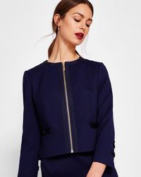 Ted Baker - Cropped Bow Detail Jacket - Lyst