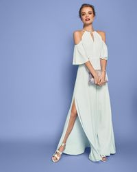 Ted Baker - Dulciee Cut Out Shoulder Maxi Dress - Lyst