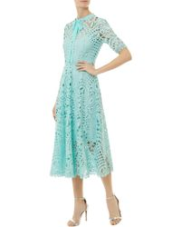 Temperley London - Berry Lace Neck Tie Dress - Lyst