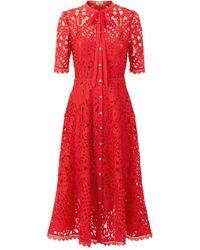 Temperley London - Berry Lace Neck Tie Dress - Lyst