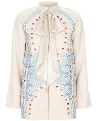 Temperley London - Juniper Wool Sleeved Cape - Lyst