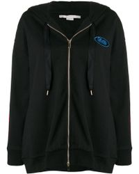 Stella McCartney - Hoodie With Logo Banded Slevees - Lyst