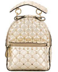 Valentino - Rockstud Spike Leather Backpack - Lyst