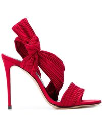 Casadei - Micro-pleated Sandals - Lyst