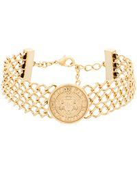 Balmain | Gold Metal Necklace | Lyst
