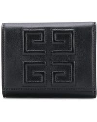 Givenchy - Emblem Leather Trifold Wallet - Lyst