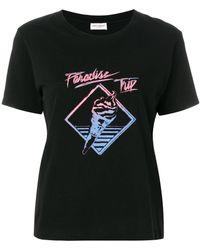 Saint Laurent - Printed T-shirt - Lyst