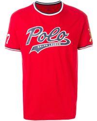 Polo Ralph Lauren - Printed Cotton T-shirt - Lyst