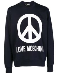 Love Moschino - Peace Print Logo Sweatshirt - Lyst