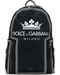 Dolce & Gabbana - Nylon Backpack With Logo - Lyst