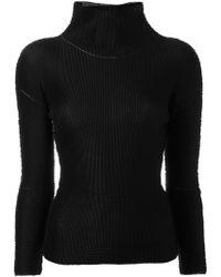Issey Miyake Cauliflower - High-necked And Embroidered Shirt - Lyst