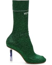 Vetements - Green Leather Boots - Lyst