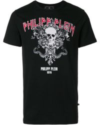 Philipp Plein - Logo Print Cotton T-shirt - Lyst