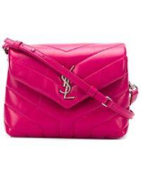 557e1c07b84 Saint Laurent Monogram Loulou Baby Leather Crossbody Bag