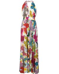 Ultrachic - Butterfly Printed Long Dress - Lyst