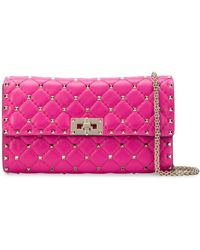 Valentino - Small Spike Shoulder Bag With Chain - Lyst