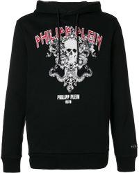 Philipp Plein - Printed Hooded Sweatshirt - Lyst