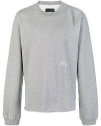 RTA - Cotton Crew Neck Sweater - Lyst