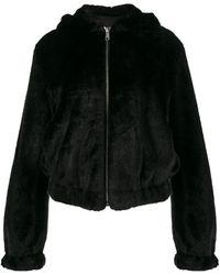 Helmut Lang - Black Teddy Hood Faux Fur Jacket - Lyst