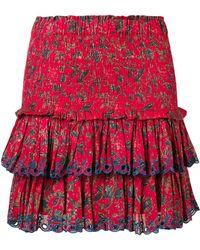 Étoile Isabel Marant - Naomi Tiered Mini Skirt - Lyst