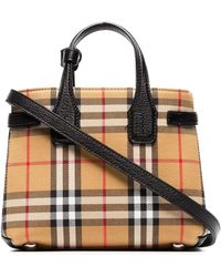 fd500ec839 Burberry The Baby Banner In Vintage Check And Leather - Lyst