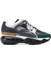 Fendi - Leather Sneaker With Net - Lyst