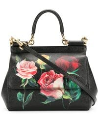 Dolce & Gabbana - Sicily Flower Leather Bag - Lyst