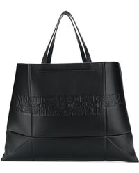 CALVIN KLEIN 205W39NYC - Geometric Leather Tote - Lyst
