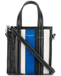 4c8c5ee6a Balenciaga Bazar Medium Leather Tote in Brown - Lyst