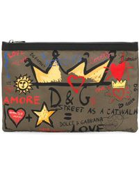Dolce & Gabbana - Printed Fantasy Wash Bag - Lyst