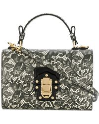 Dolce & Gabbana - Lucia Floral Pattern Lace Bag - Lyst